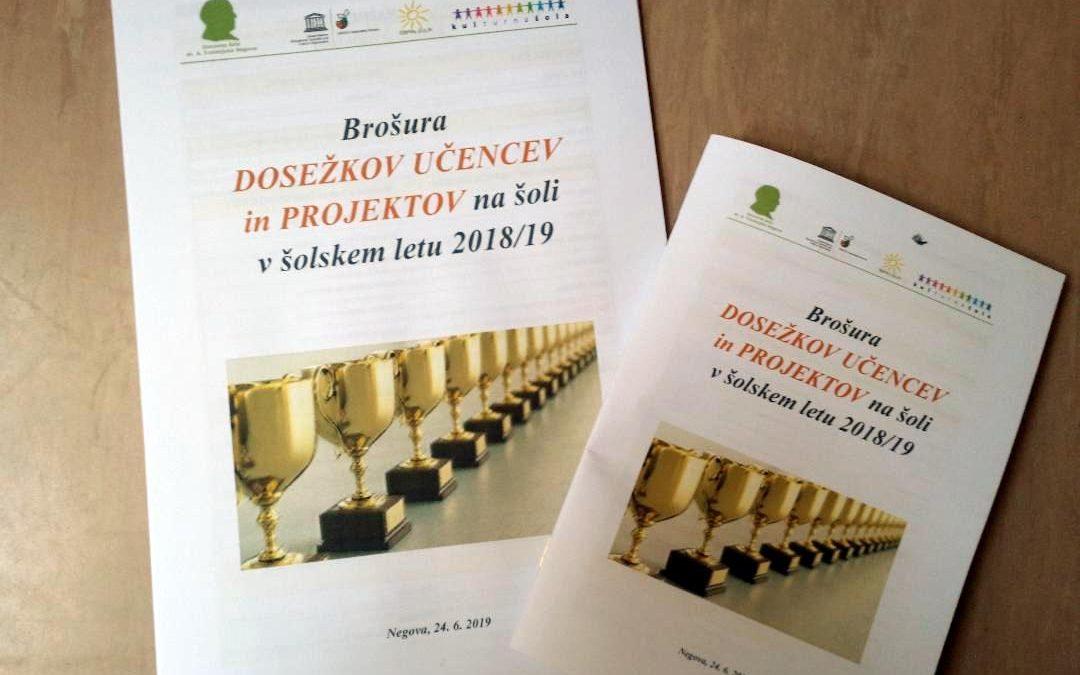 Brošura dosežkov in projektov v šol. letu 2018/19