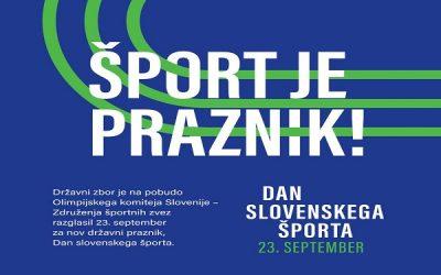 Šport je praznik! Dan slovenskega športa